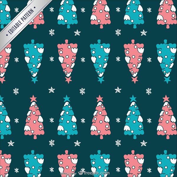 Christmas trees pattern
