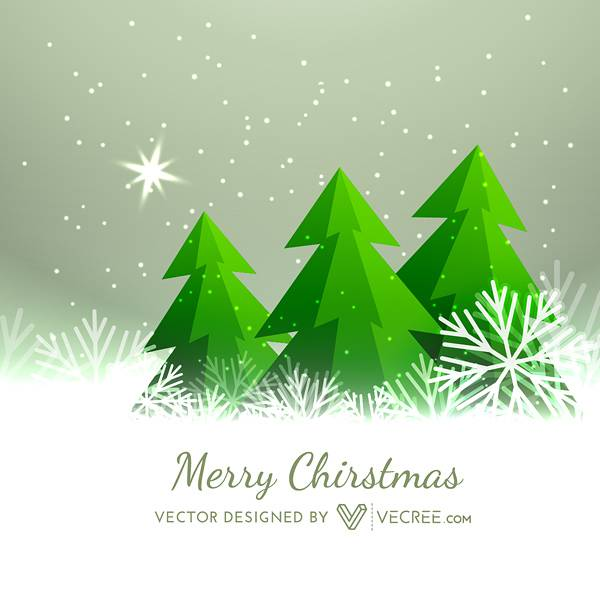 2014 Merry Christmas Free Vector