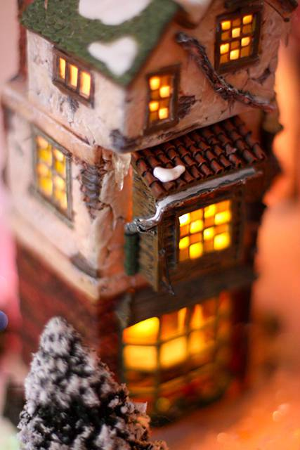 The warm glow of a winter house