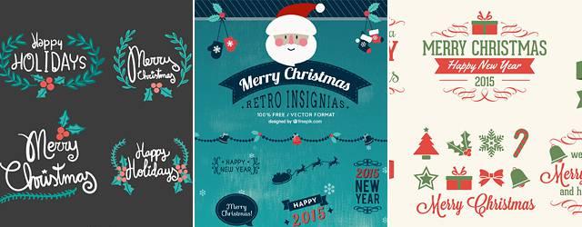 無料素材:クリスマスの見出しデザインはこれでOK!飾り文字ベクターまとめ