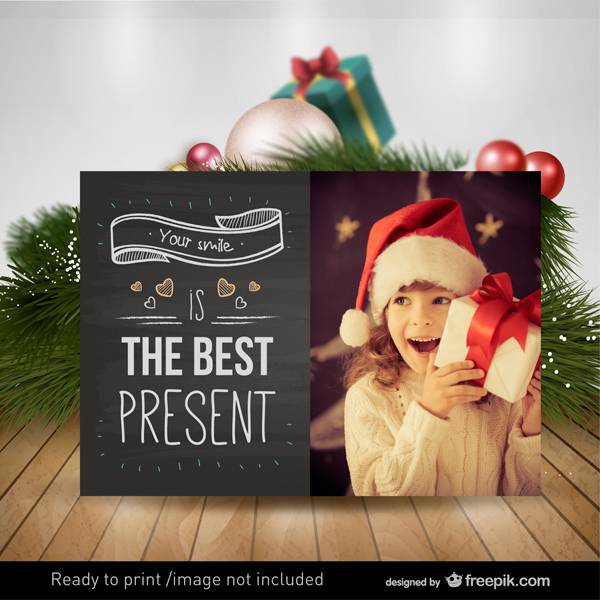 Ready to print Christmas card
