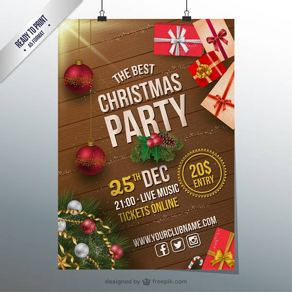 Christmas party CMYK flyer