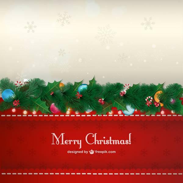 Vintage Christmas card free vector