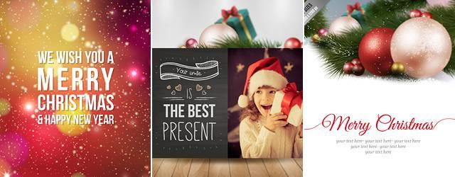 無料素材:これは高品質!クリスマスカードのベクターテンプレート20選