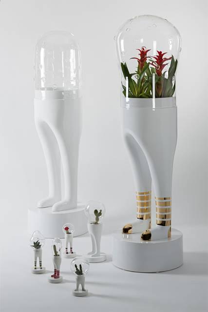 足の生えたお洒落なテラリウム用ケース - 06