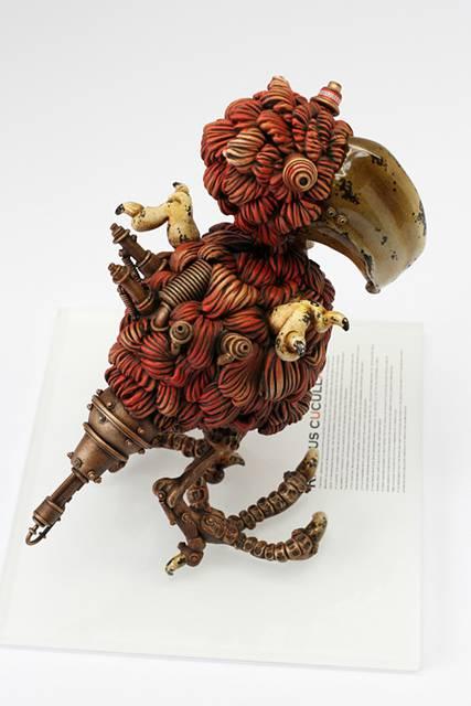 古いのに新しいスチームパンクな動物達の彫刻作品 - 03