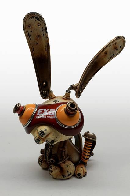 古いのに新しいスチームパンクな動物達の彫刻作品 - 04