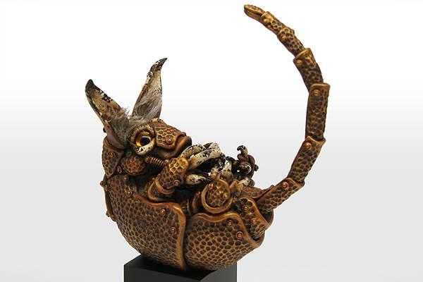 古いのに新しいスチームパンクな動物達の彫刻作品 - 05