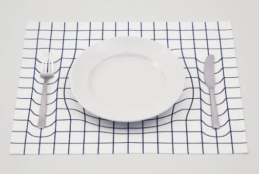 トリックアートなランチョンマット「trick mat」 - 01