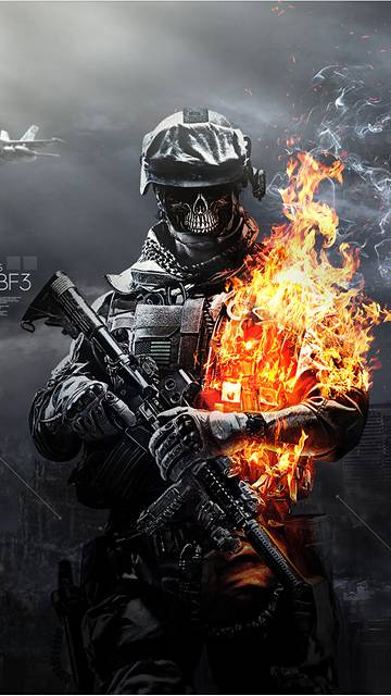 Battlefield Skulls Fire IPhone 6Wallpapers