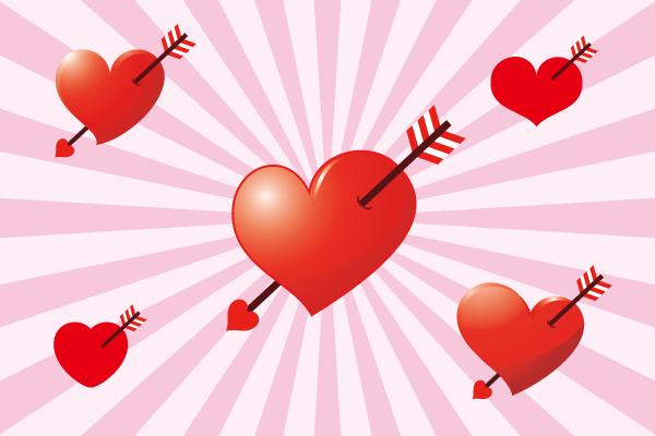 恋の矢とハート2