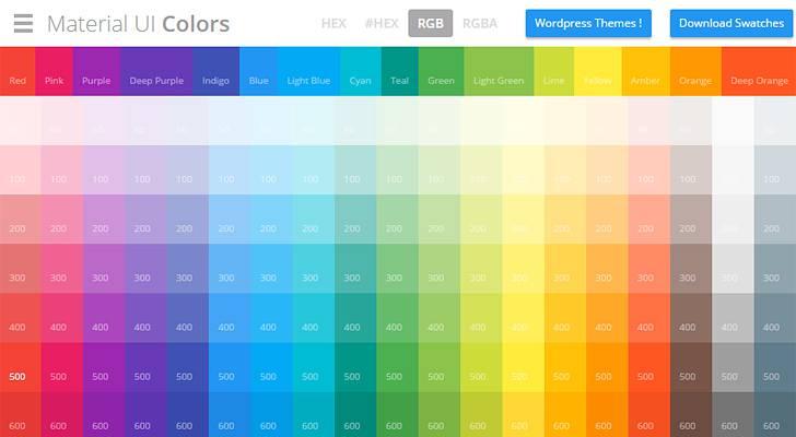 Material UI Colors - 01