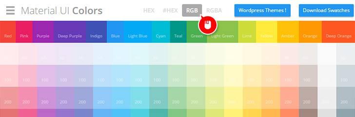 Material UI Colors - 02