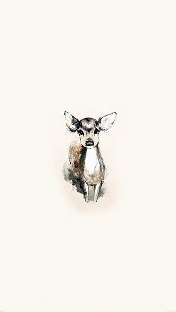 可愛い子鹿のイラスト壁紙