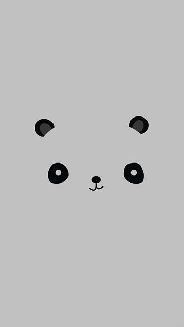パンダの顔の可愛いイラスト壁紙