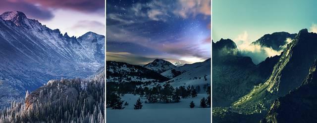 【iPhone6/Plus壁紙】山の風景の美しい画像集(雪山・岩山・湖)