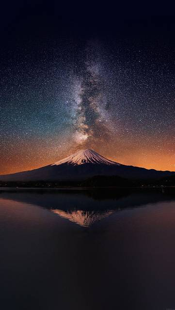 mc68-wallpaper-milky-way-on-mountain-fuji-sky