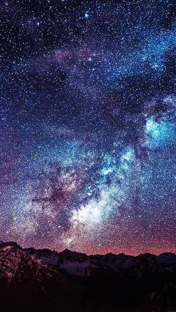 mb56-wallpaper-amazing-milkyway-space-mountain-red