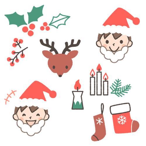 クリスマスのイラスト(男の子ver.)