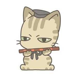 五人囃子(笛)の無料イラスト