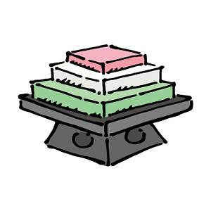 菱餅の無料イラスト2