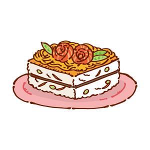 ひな祭りのちらし寿司の無料イラスト