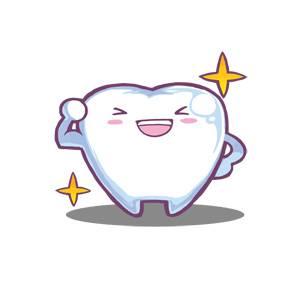 歯キャラクター - にっこり笑顔