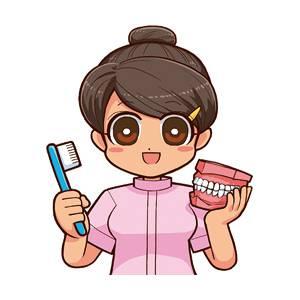 歯磨き指導をする歯科衛生士 - 歯磨き指導1