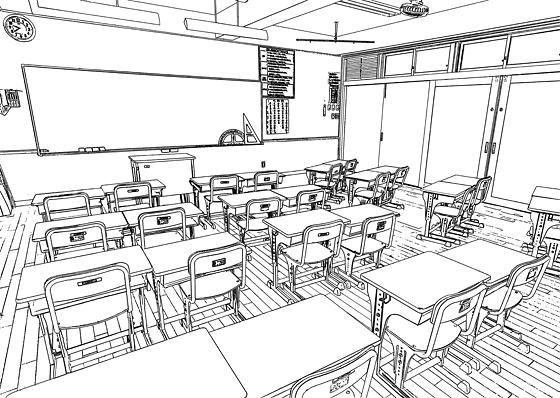 学校の教室のイラスト