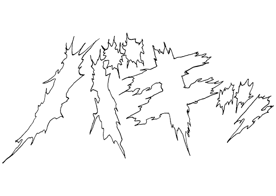 「バキッ」の描き文字イラスト