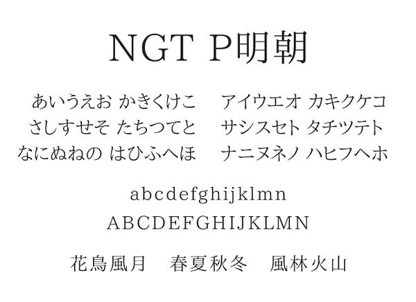 NGT P明朝