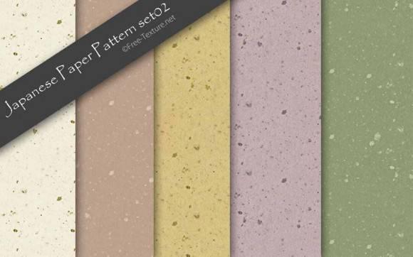 手漉き和紙のパターンテクスチャ素材5色