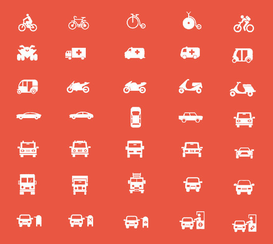 150 Royalty-Free Transport Icons Pack