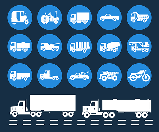 Vehicle Vector icons Free PSD