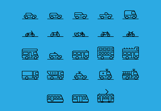 71 transportation icons