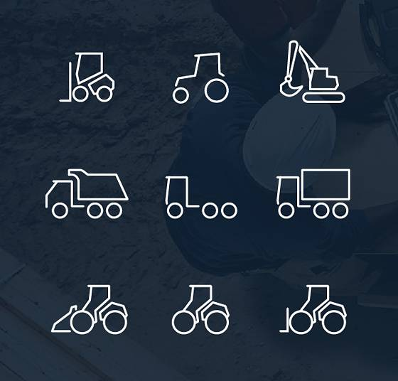 Dirty Tracks Free Flat Icon Set