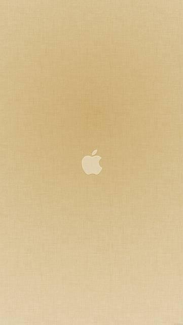 テクスチャ背景にアップルロゴ(和紙風)