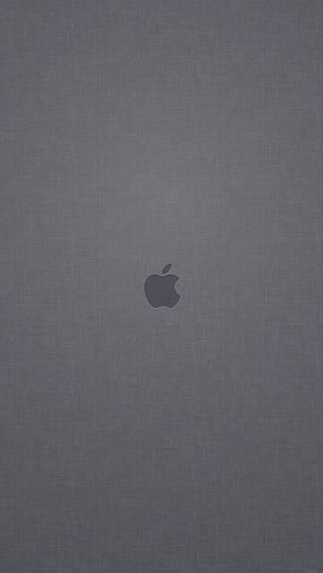 テクスチャ背景にアップルロゴ(グレー)