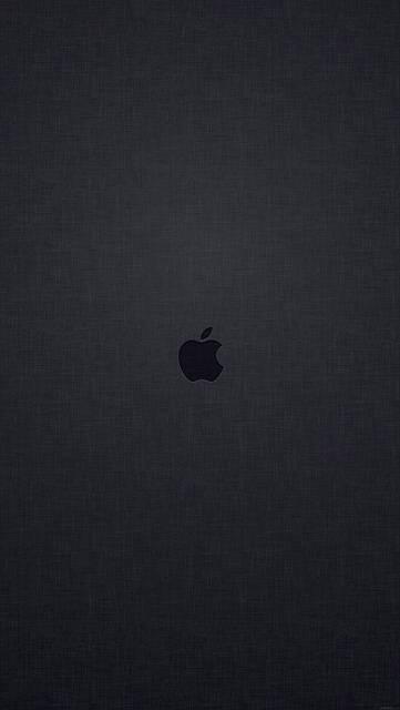 テクスチャ背景にアップルロゴ(ブラック)