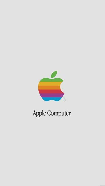 1976~1998年スタイルのアップルロゴ
