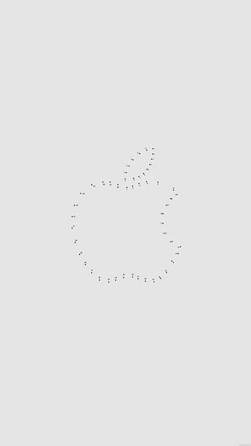 ドットでデザインされたAppleロゴ(グレー)