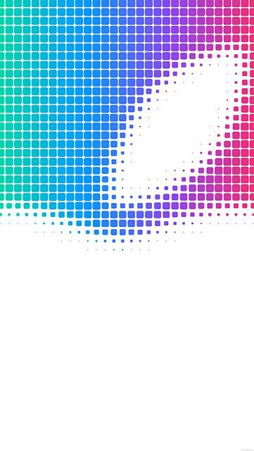 グラデーションドットでデザインされたAppleロゴ