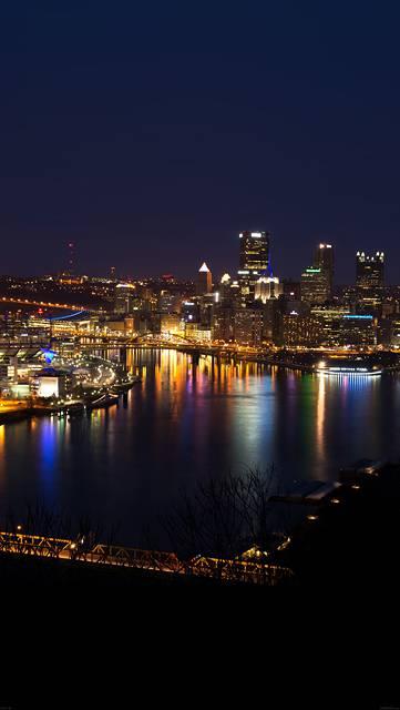 ピッツバーグの美しい夜景写真