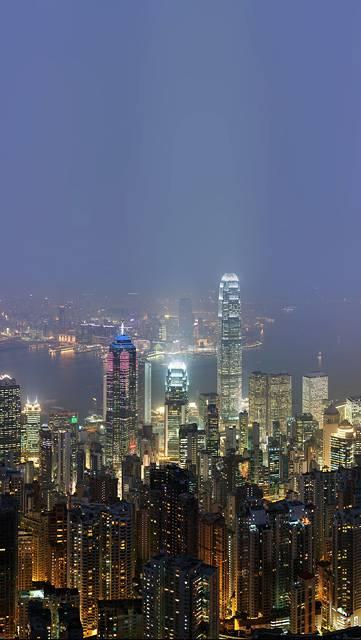 香港の美しい高層ビル街の写真壁紙