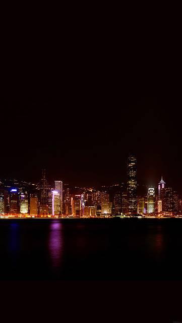 香港の美しい夜景の写真画像