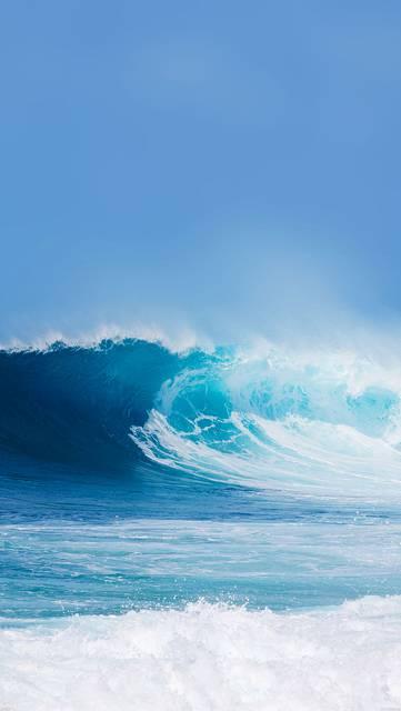 綺麗な波の夏らしい写真壁紙