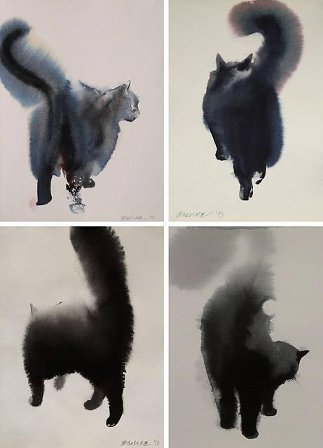 インクの滲みがフワフワの猫の毛並みに! - 05