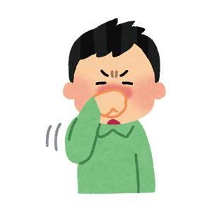 鼻をこすっている人のイラスト