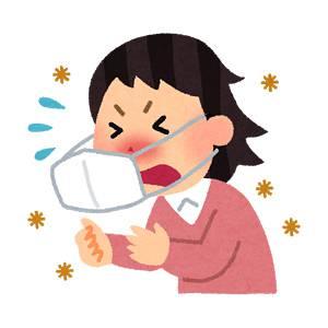 くしゃみをしている人のイラスト(花粉症)
