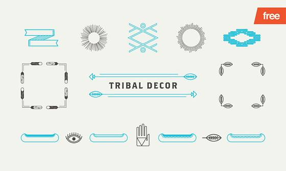 Tribal Decor - 15 Vector Shapes